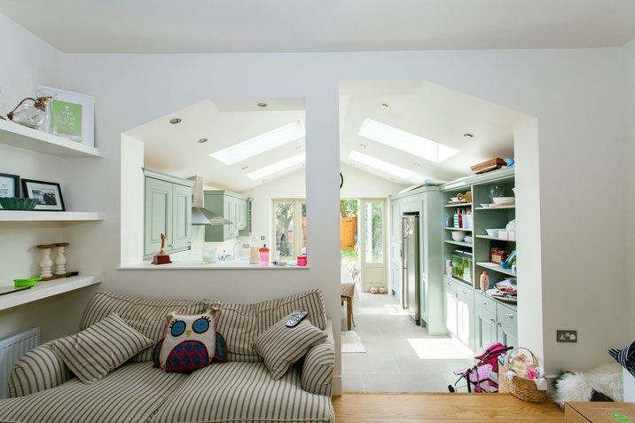 Kitchen Extension With Playroom Space In London