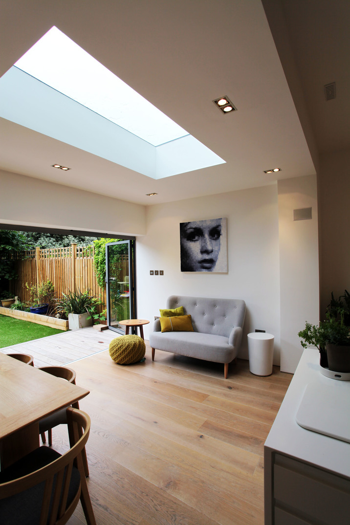 Kitchen rear extension in london merton project for Large skylights